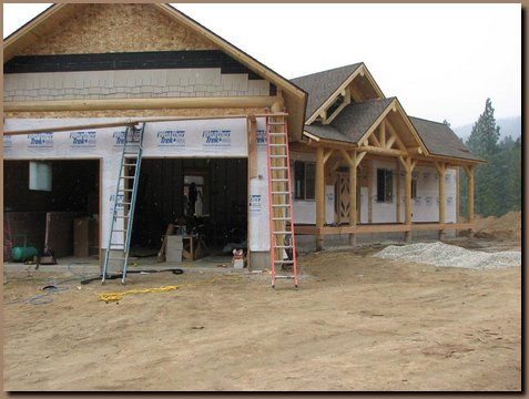 Conventional siding being applied