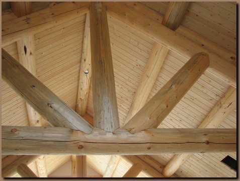 Interior conventional log truss