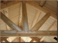 Interior conventional log truss