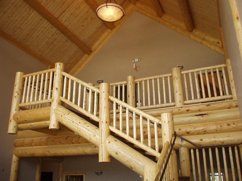 Log Railings Action Log Homes