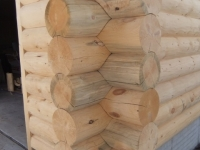 Log siding corners